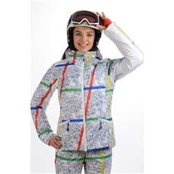 Куртка женская STAYER 17-42132 04 белый\принт Р:42